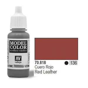 Vallejo Model Color 70.818  Red Leather 133 farba akrylowa 17ml