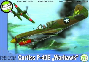 Curtiss P-40E Warhawk 1:72 / AZ Model Legato 7222