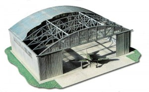 Military airplane hangar 1/72 (laser cut)