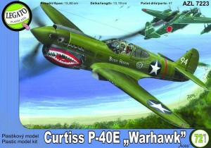 Curtiss P-40E Warhawk 1:72 / AZ Model Legato 7223