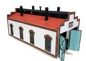 Railway engine shed HO 1:87