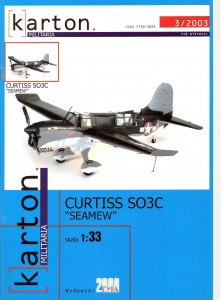 "Curtiss SO3C ""SEAMEW"" 1:33"