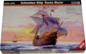Santa Maria Columbus ship - model żaglowca 1:270