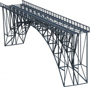 Metal bridge, double track, L=600mm