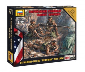 US Browning Machine gun w. crew zestaw figurek 1:72 / Zvezda 7414