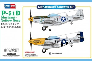 P-51D Mustang yellow nose 1:48 / Hobby Boss 85808